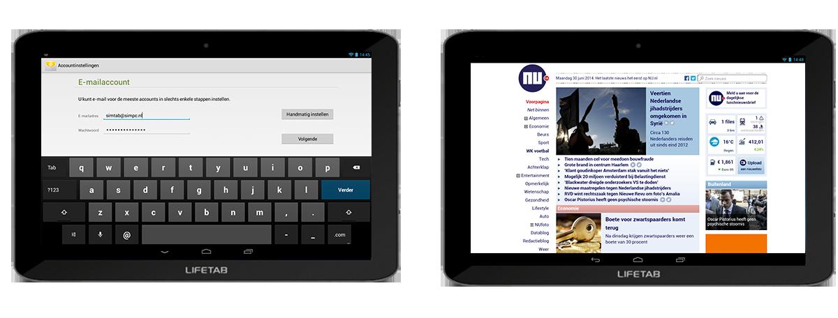 emailen op een tablet voor senioren