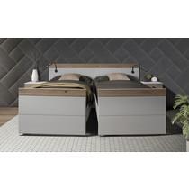 Tweepersoons Deelbaar Bed Plano ( Eiken)