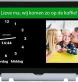 TZ TZ Dayclock Duo - Digitale Kalenderklok Met Agenda Functie