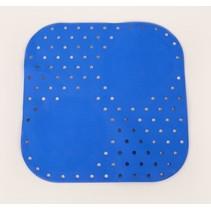 Douchemat Anti-Slip Blauw 54x54 cm