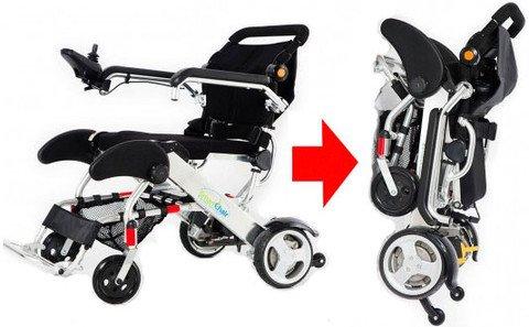 Smartchair opvouwbare elektrische rolstoel