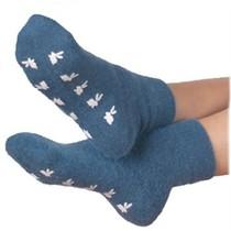 Warmte Sokken Met Anti-Slip Blauw - Bedsokken