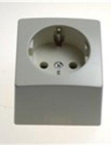 GIMEG Gimeg Elektra stopcontact randaarde opbouw enkel wit
