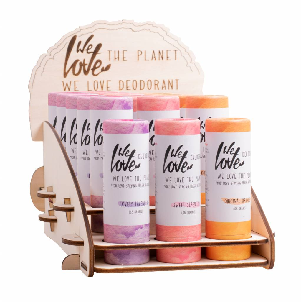 We Love The Planet Display deo 6 Fragrances
