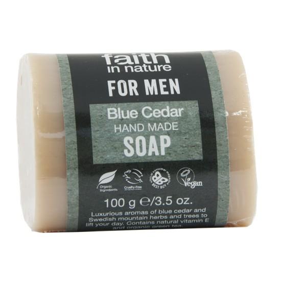 Faith in Nature Blue Cedar Soap Bar