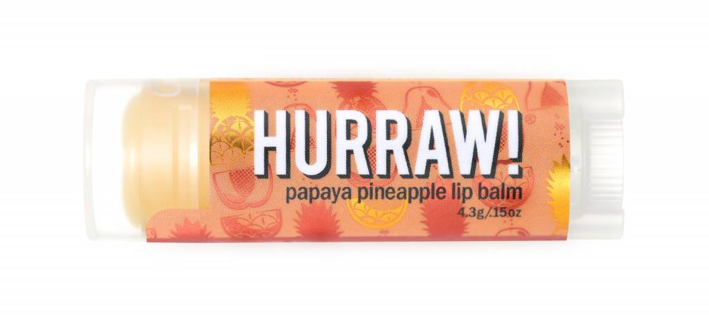 Hurraw! Papaya & Pineapple Lip Balm