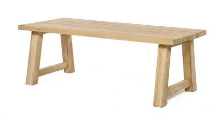 Rechthoekige eiken tafels robuust nergens goedkoper a1 tafel