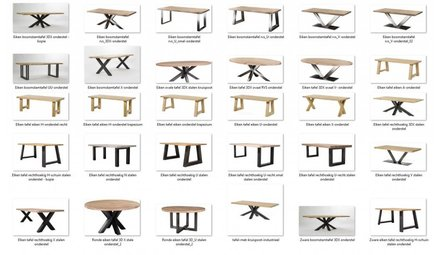 Uw eigen tafel samenstellen