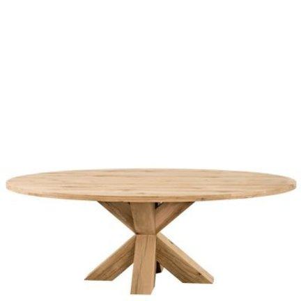 Volledig eiken tafels met een houten onderstel