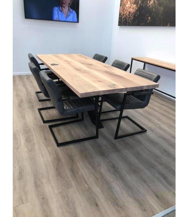 Massief recht tafelblad | Eiken