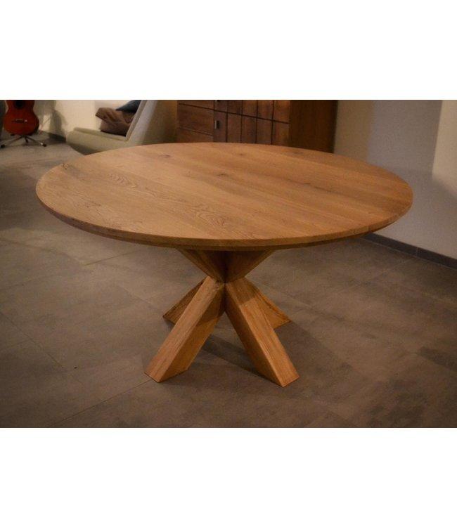 Ronde tafel | Eiken | Houten Matrix | Langeveen
