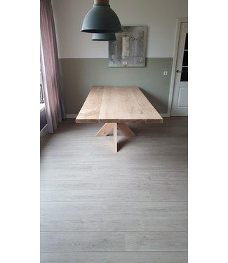 Eiken tafel | spinpoot onderstel | Doetichem