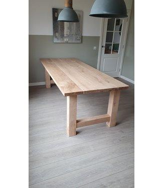 Eiken tafel | H-onderstel | massief eiken | Gelderland