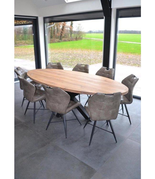 Ontwerp je ovale tafel | Eiken