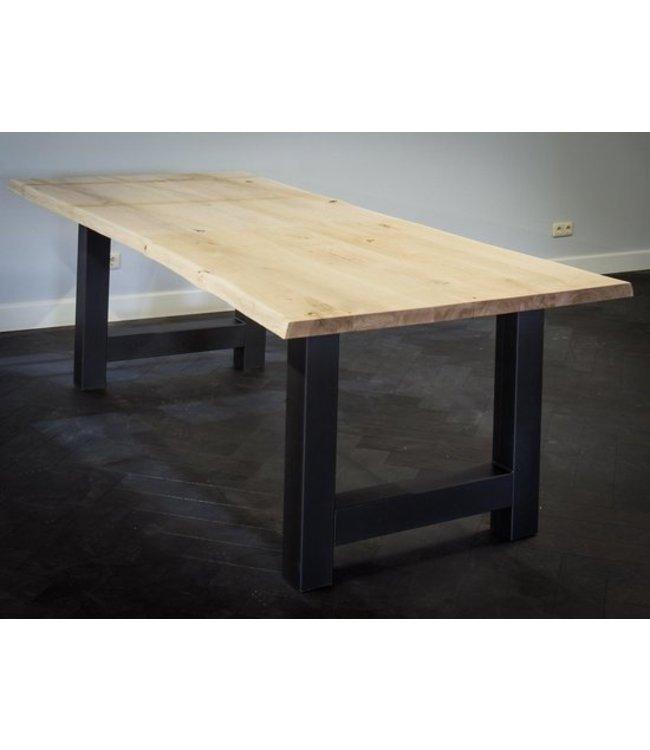 Industriële tafel | Eiken | H-Metaal | Delfzijl