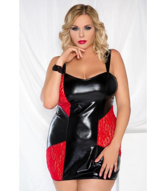 Andalea SEXY LATEX KANT CHEMISE