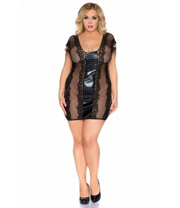Andalea LACE AND WETLOOK CHEMISE