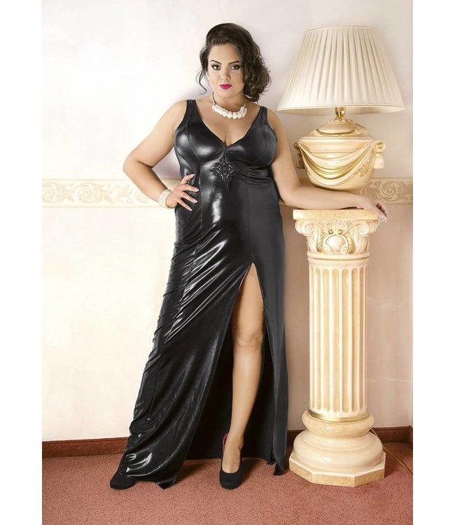 Andalea LATEX LIKE LONG BLACK DRESS