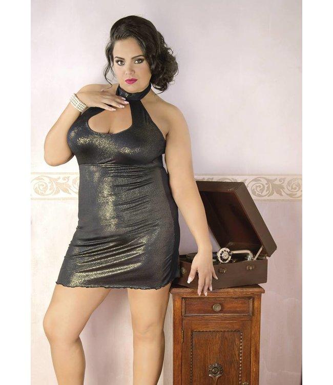 Andalea SHORT GOLDEN SHINY DRESS