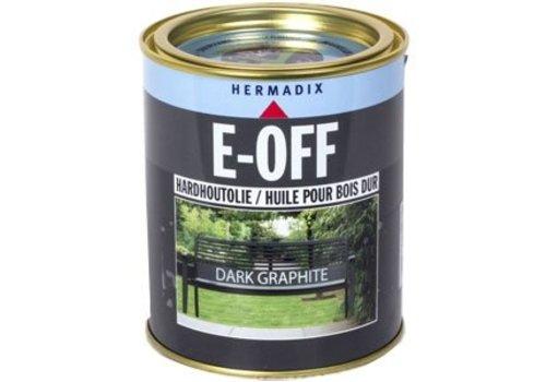 Hermadix E-off Hardhoutolie - 0,75 liter Dark Graphite