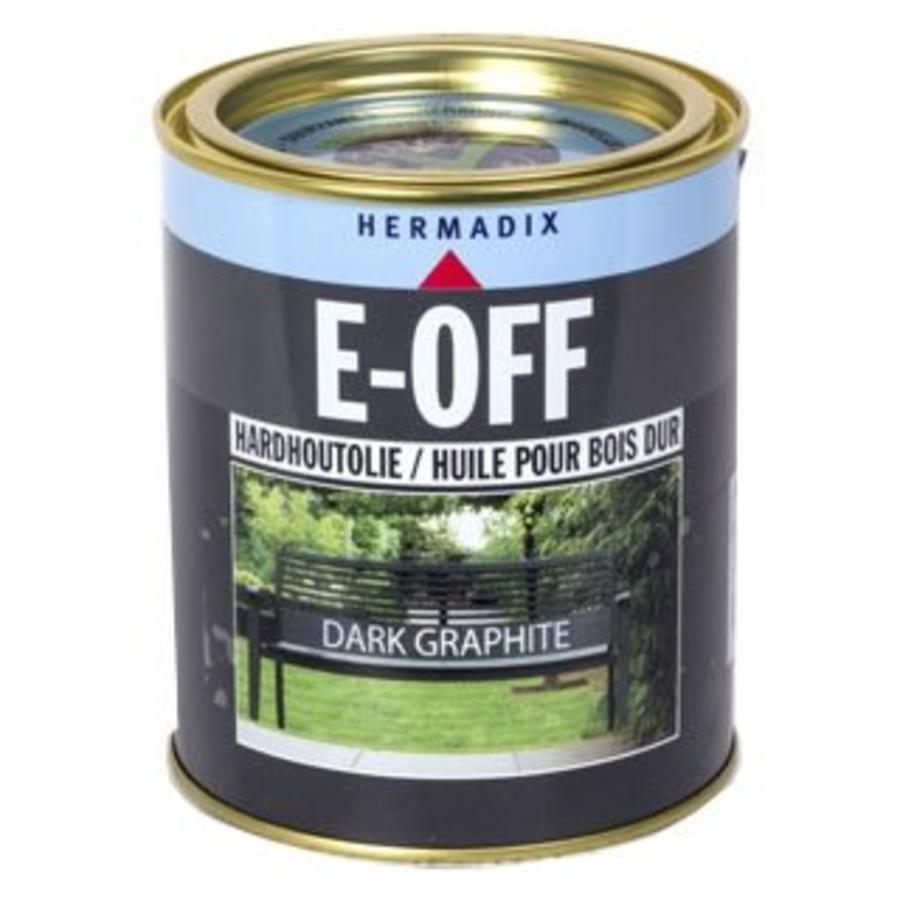 E-off Hardhoutolie - 0,75 liter Dark Graphite-1