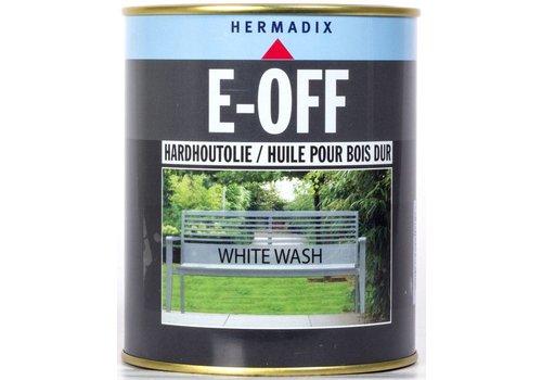 Hermadix E-off Hardhoutolie - 0,75 liter White Wash