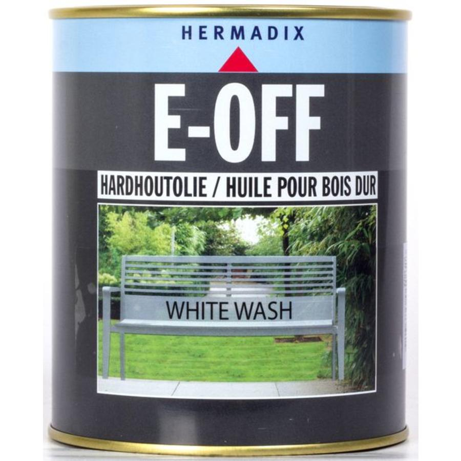 E-off Hardhoutolie - 0,75 liter White Wash-1