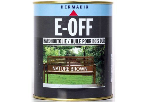 Hermadix E-off Hardhoutolie - 0,75 liter Nature Brown