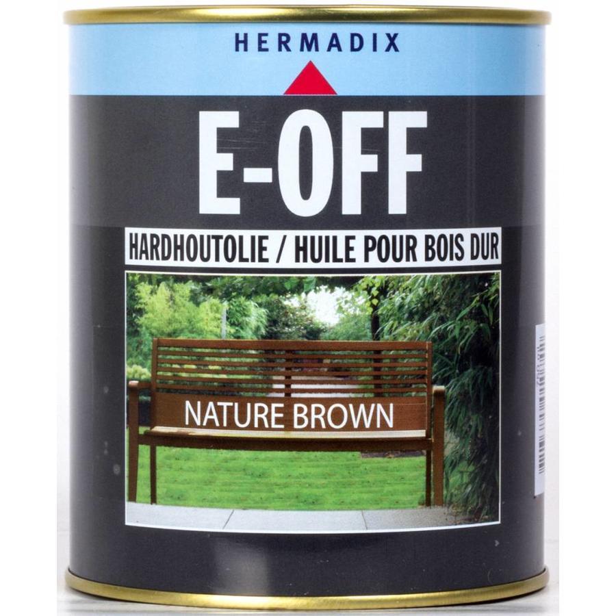 E-off Hardhoutolie - 0,75 liter Nature Brown-1
