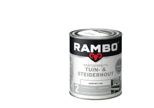 Rambo Pantserbeits Tuin- & Steigerhout - Puur wit 1138