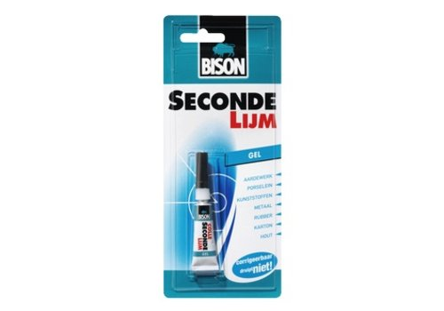 Bison Bison secondelijm gel 3gr