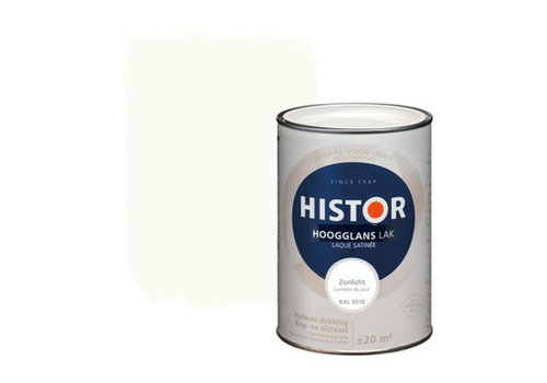 Histor Histor Perfect Finish Lak Hoogglans 1,25ltr Zonlicht (RAL 9010)