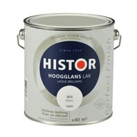 Histor Perfect Finish Lak Hoogglans 2,5l Wit