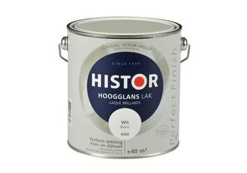 Histor Histor Perfect Finish Lak Hoogglans 2,5l Wit