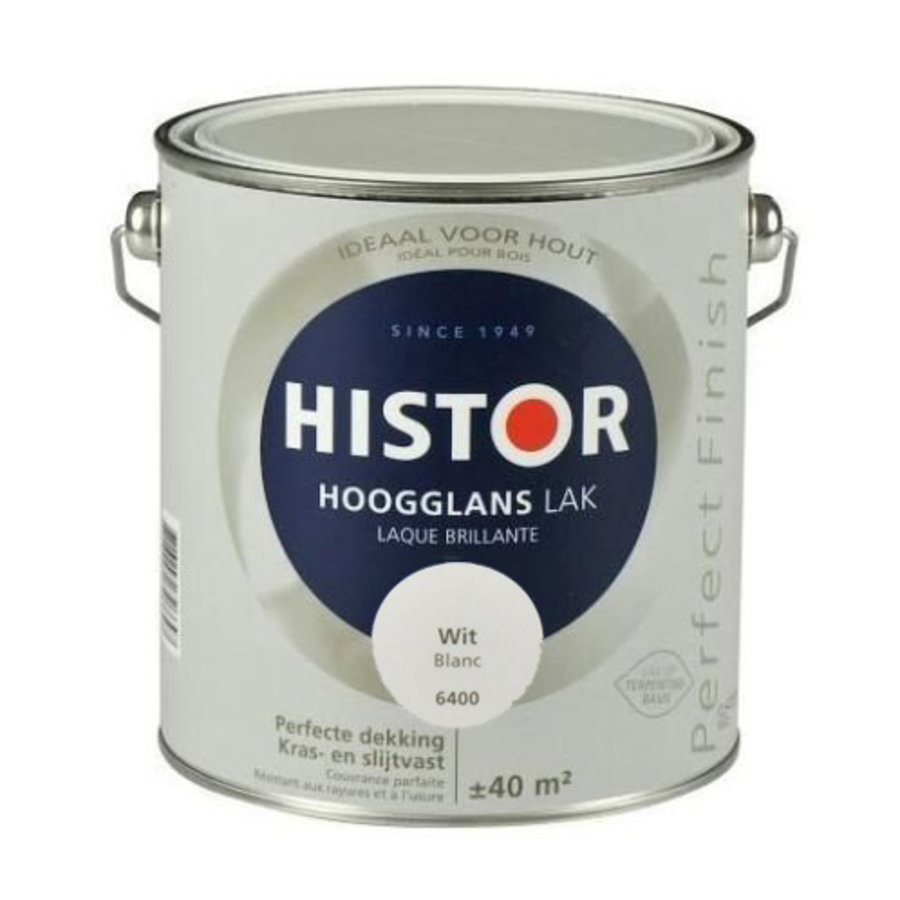 Histor Perfect Finish Lak Hoogglans 2,5l Wit-1