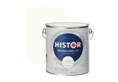 Histor Histor Perfect Finish Lak Hoogglans 2,5l Zonlicht (RAL 9010)