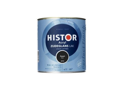 Histor Histor Acryl Zijdeglans Lak 750 ml Zwart