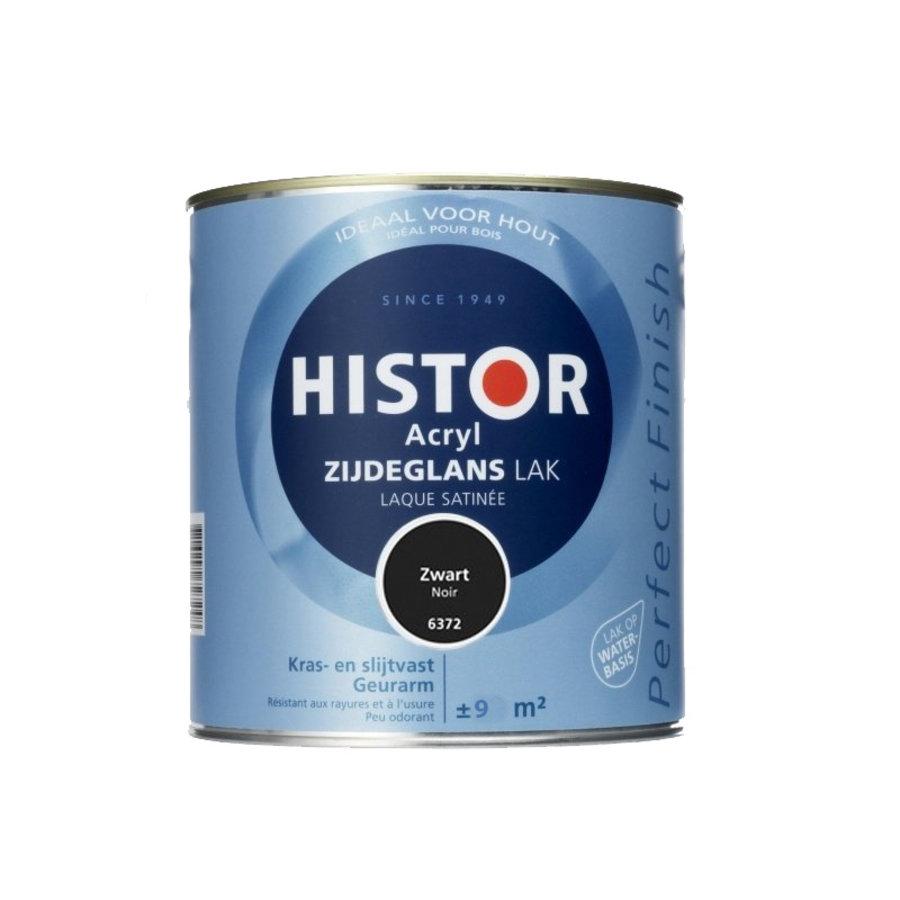 Histor Acryl Zijdeglans Lak 750 ml Zwart-1