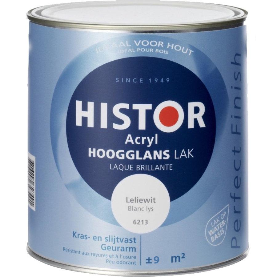Histor Acryl Hoogglans Lak 750 ml Leliewit-1