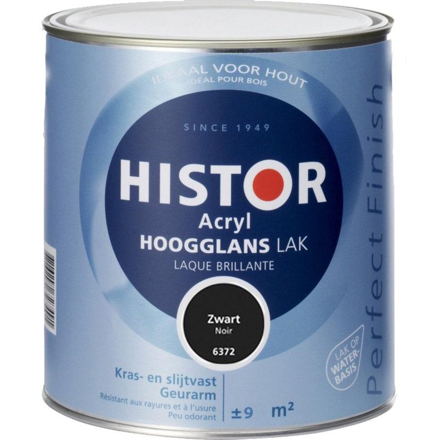 Histor Acryl Hoogglans Lak 750 ml Zwart-1