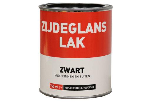 Zijdeglans Lak - 750 ml Zwart