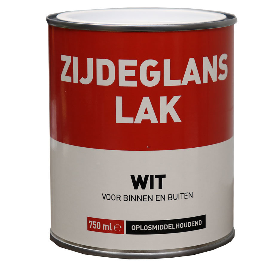 Zijdeglans Lak - 750 ml Wit-1