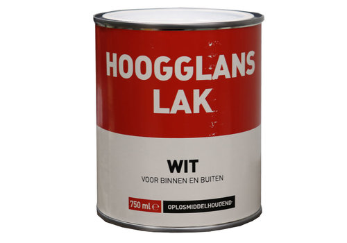 Hoogglans Lak - 750 ml Wit
