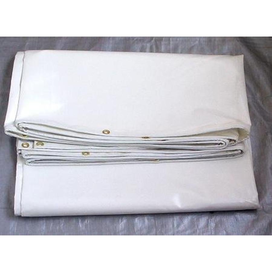 Bâche ignifugée 3x4m PVC 650 gr/m² ignifugée norme M2/DIN4102-B1 - Blanc