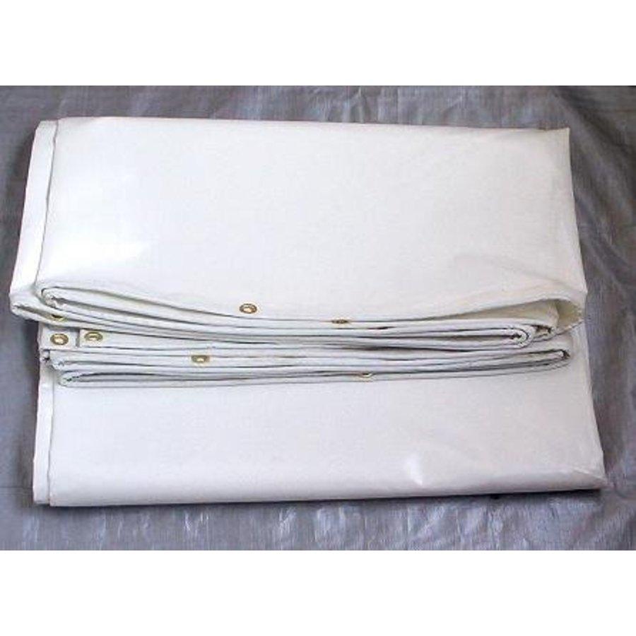 Bâche ignifugée 2x3m PVC 650 gr/m² ignifugée norme M2/DIN4102-B1 - Blanc
