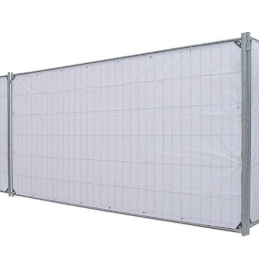 Bâche pour barrière PE 150 gr/m² ignifugée DIN4102-B1 - Blanc