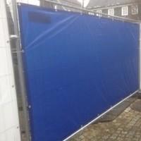 Bâche pour barrières en PE 150 gr/m² - Blanc