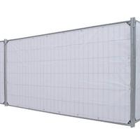Lichtgewicht bouwhekzeil PE 150 gr/m² - Zwart