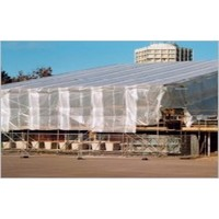 Bâche d'échafaudage 2,70m x 20m PE/PP 180 gr/m² - Transparent