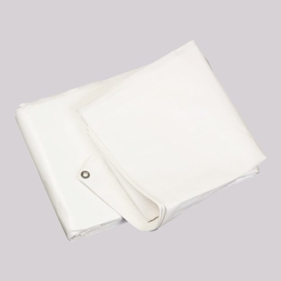 Bâche 6x8 'Medium' PE 150 gr/m² ignifugée - Blanc